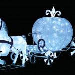 LEDクリスタルグロー白馬の馬車(小)