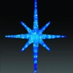 LEDクリスタルグロースノーフレーク-ブルー